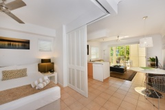 Modern Queen Bedroom - Port Douglas Adult Only Holiday Apartments