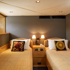 Luxury Private Charter Boat | Twin Cabin accommodation