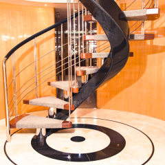 Cairns Superyacht | Multi Level Private Yacht | Spiral Staircase