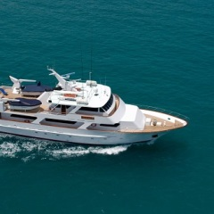 Aerial View Luxury Private Charter Boat | Whitsunday Islands