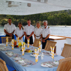Great Barrier Reef Luxury Private Charter Boat | Outside Dining Deck