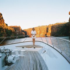 Cairns Luxury Private Charter Boat | Standing on the Bow | The Kimberley
