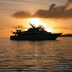 Cairns Luxury Private Charter Boat | Sunset in New Caledonia