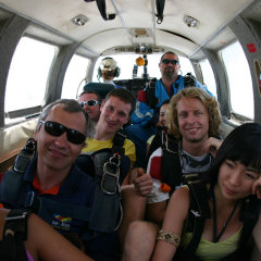 Nervous People About to Skydive in Cairns