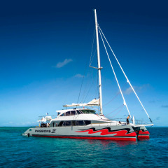 New Dive and Snorkel Vessel Sitting on the Reef - Cairns Reef Tour