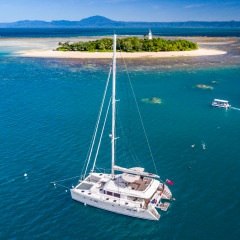 Aerial View New Lagoon 560 Catamaran | Port Douglas Reef Trip