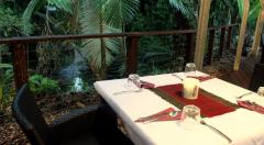 On the Turps Rainforest Restaurant at Heritage Lodge - Daintree