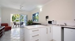 One Bedroom Apartment Kitchen Area - Sarayi Boutique Hotel Palm Cove