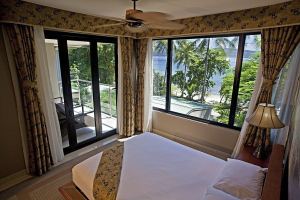 One Bedroom Suite Bedroom at Fitzroy Island Resort - Great Barrier Reef