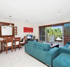 Open plan Dining & Living Area at Red Cowrie Apartment - Palm Cove