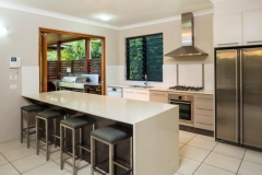 Open plan Kitchen - TV Room at Holiday House Palm Cove
