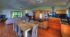 Open plan kitchen and living area to enjoy the beachfront location - Beachside Holiday House Mission Beach