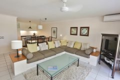 Open Plan Living Area - Private Apartment at Alamanda Palm Cove