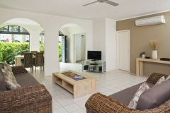 Open Plan living areas in the One & Two Bedroom Holiday Apartments at Mango Lagoon Resort Palm Cove