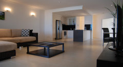 Open plan living at Vue Apartments