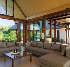 Open plan tropical living in your private pavilion style holiday house - Niramaya Villas & Spa Port Douglas