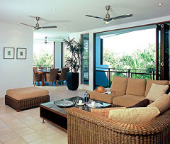 Opening plan living area - Sanctuary Palm Cove Apartments