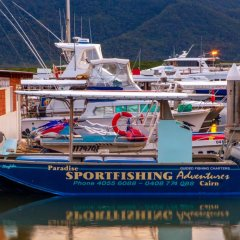Our fishing boat in Cairns