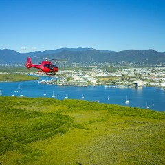 Our fly/fly Great Barrier Reef helicopter tour departs from Cairns