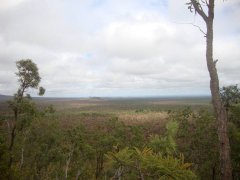 Outback Queensland views across Undara National Park