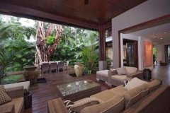 Luxury Port Douglas Holiday home features tropical lifestyle living with open living and timber decks.