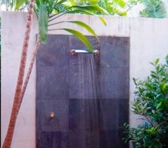 Outdoor shower for those tropical days