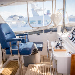 Overnight Charter Boat Cairns - Flybridge Helm