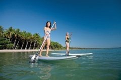 Paddle board at Four Mile Beach