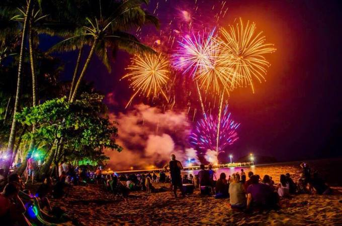 Palm Cove Fireworks by Angela Willemsen Photography
