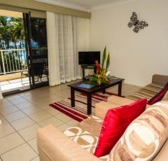 Palm Cove Holiday Apartments with living opening out to balcony