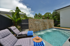 Heated pool in winter | Palm Cove Holiday House