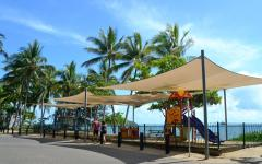 Palm Cove offers beachfront playground and cafes and restaurants - within easy walking distance.
