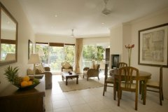 One Bedroom Apartment Lounge at Paradise Links Resort Port Douglas