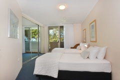 Beachfront Units - Palm Cove - Senna - 2nd Bedroom with Balcony and ocean views