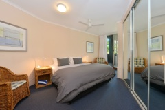 Palm Cove Apartments - Senna - Master Bedroom with Balcony and Ocean Views