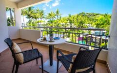 Enjoy the tropical lifestyle relaxing on Pool View Balcony | Peninsula Boutique Hotel Port Douglas