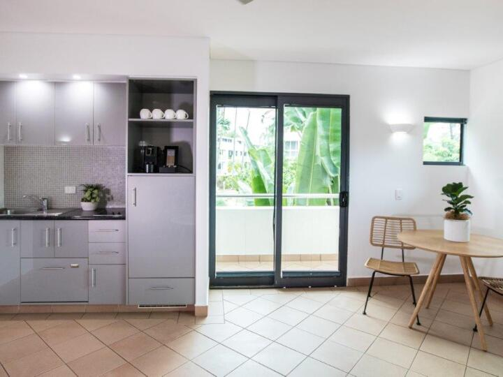 Peninsula Pool View Kitchenette | Peninsula Boutique Hotel Port Douglas