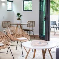 Contemporary open plan living - Pool View Living Area | Peninsula Boutique Hotel Port Douglas