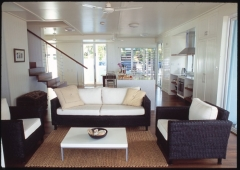 Living area and self contained kitchen - Pines Beachfront Holiday House Port Douglas