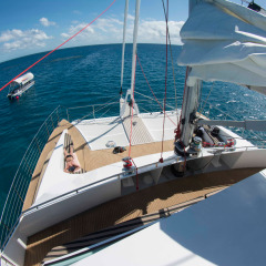 Plenty of Space to Lounge on the Front Deck - Reef Yacht Cairns
