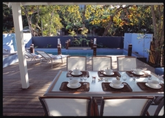 Poolside Dining - Pines Beachfront Holiday House Port Douglas