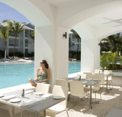 Poolside dining at Sublime Restaurant Peppers Beach Club Apartments Port Douglas