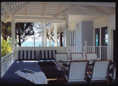 Poolside Dining Pavilion with ocean views - Pines Beachfront Holiday House Port Douglas