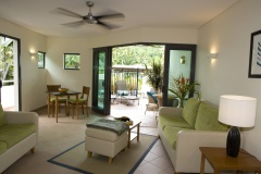 Poolview Suite with open plan living and patio - Adult only Boutique Resort Port Douglas