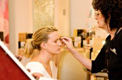 Port Douglas bride having her make up applied