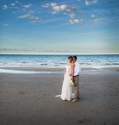 Port Douglas Couple after beach wedding