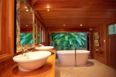 Enjoy soaking in the free standing bath as you soak up the Rainforest views - Port Douglas Holiday Home