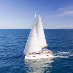 Port Douglas Private Charter Yacht under sail on the Great Barrier Reef in Australia
