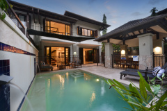 Port Douglas Sea Temple Private Villa 315 with private courtyard and Plunge Pool with poolside BBQ