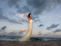 Port Douglas Wedding - Bride on the Beach